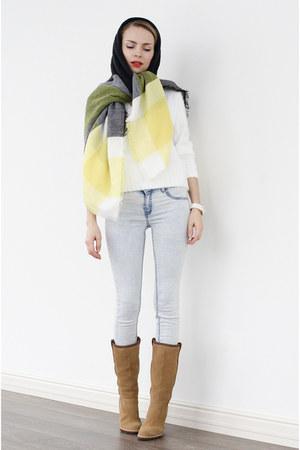 yellow choiescom scarf - white choiescom swimwear