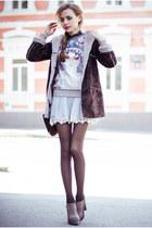 silver Chicwish skirt - puce OASAP sweatshirt