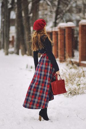 brick red alicespigcom skirt