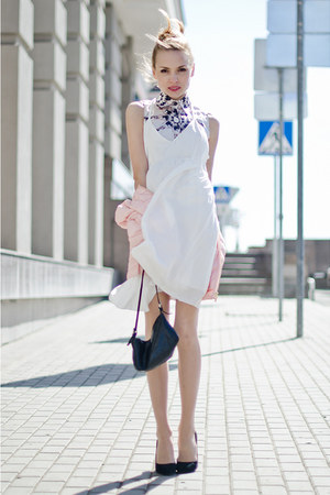 white PERSUNMALL dress - light pink Motivi jacket