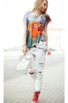 Zara jeans - stylishplus sneakers - Wholesale7 top - ALENA YAKIM bracelet