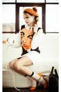 Carrot-orange-sheinsidecom-dress
