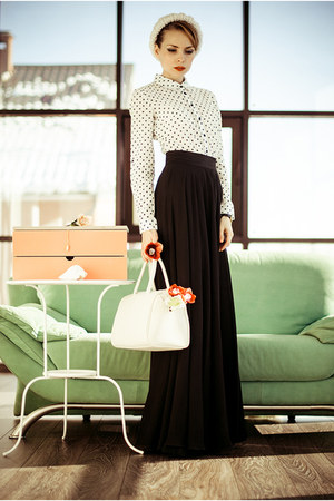 white BeFree skirt - carrot orange Valise accessories