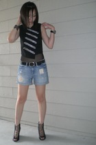 forever 21 shorts - Target vest - aa - H&M belt - Givenchy shoes