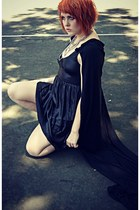 black Silence & Noise dress - black handmade cape