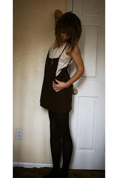 Hand Made top - Gap blouse - simply vera wang tights - thrifted key necklace