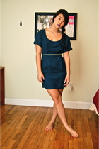 green nom de plume dress - blue Urban Outfitters belt