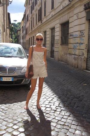 Zara sandals - vintage bag - H&M sunglasses - Zara bodysuit
