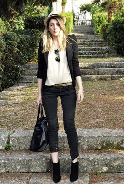 Bershka blazer - Zara boots - Just Cavalli jeans - Zara bag