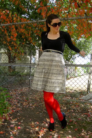 red Target tights - black Ditto by VanEli shoes - white Forever 21 skirt