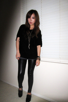 leggings - shirt - shirt - shoes - accessories