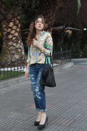 Zara jeans - Zara bag - Zara blouse - Zara heels - Zara belt