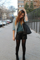 Zara jacket - Zara bag - H&M shorts - Zara top