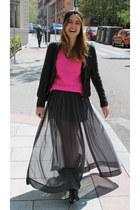 Zara skirt - Uterqe boots - Zara sweater