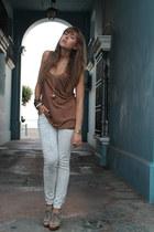 Mango pants - Zara top - Mango heels