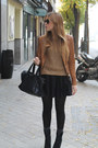 Zara-boots-mango-jacket-zara-sweater-blanco-bag-h-m-socks-h-m-skirt