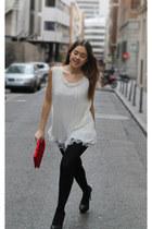 Zara heels - BLANCO bag - Queens Wardrobe blouse