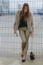 Zara jeans - Queens Wardrobe jacket - Purificacion Garcia bag - Zara heels