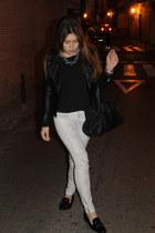 Queens Wardrobe jacket - BLANCO bag - Zara flats - Mango pants - Zara top