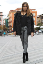 Queens Wardrobe jacket - Zara boots - Zara pants - Zara top