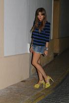 Zara heels - Mango shorts - Zara top