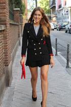 Queens Wardrobe blazer - H&M bag - H&M skirt - Zara top - Zara heels
