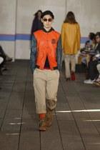 """Orange """"Varsity"""" Jacket"""