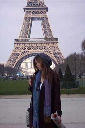 H&M hat - Tulle jacket - Lisbon scarf - Gucci purse - Kimchi&Blue shirt