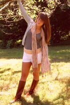 BDG top - H&M scarf - American Eagle shorts - Saks Fifth avenue boots