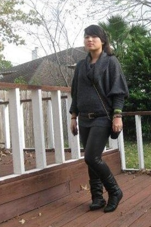 Express sweater - pants - vintage belt - vintage boots - purse
