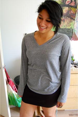 black American Apparel skirt - gray American Apparel shirt