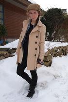 vintage boots - tights - Vintage Levis shirt - H&M jacket - Vintage Paris hat