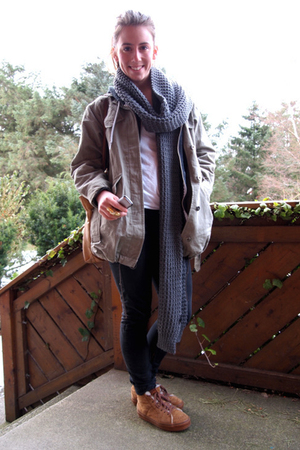 Vans shoes - Fornarina pants - H&M men scarf - acne jacket - Vintage inherited f