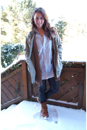 red wing boots - Cubus pants - BikBok top - dressmann shirt - cardigan - acne ja