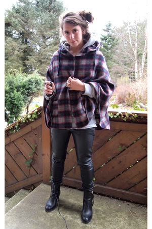 acne boots - Cubus pants - H&M sweater - H&M top - BikBok jacket - eBay H&M acce