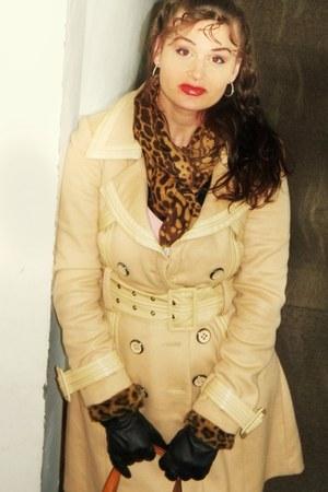 Aldo boots - Bebe coat - leaopard print Target scarf - Target gloves