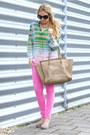 Camel-celine-purse-black-prada-sunglasses-chartreuse-cynthia-vincent-blouse