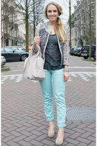 Isabel Marant jacket - Alexander Wang purse - Isabel Marant top - asos pumps