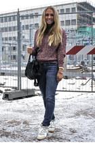 Isabel Marant sweater - Levis jeans - balenciaga bag - Isabel Marant sneakers