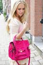 Hot-pink-proenza-schouler-purse-ivory-isabel-marant-skirt-skirt
