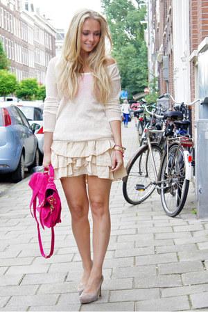 hot pink PROENZA SCHOULER purse - ivory Isabel Marant skirt skirt