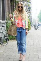 bubble gum Much Gusto jacket - camel Celine purse