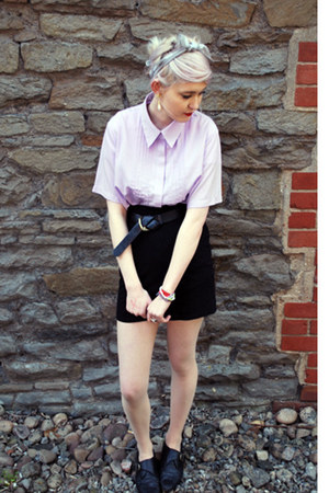 light purple pleated Pumpkin Soup blouse - black H&amp;M skirt