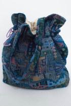 Vintage Woven Tapestry Print Drawstring Tote Bag