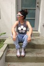 Clavin-klein-jeans-white-sunglasses-black-babewatch-clothing-top