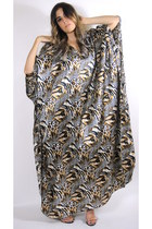 Wild Child Vintage Animal Print Maxi Robe