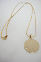 Taurus Vintage Faux Gold Horoscope Pendant Necklace