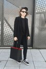 Black-claudie-pierlot-coat-black-mansur-gavriel-bag-black-celine-sunglasses