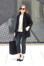 Dark-brown-isabel-marant-coat-dark-gray-acne-jeans-black-celine-bag