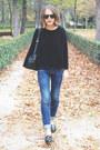 Tan-burberry-coat-navy-rag-bone-jeans-black-the-kooples-sweater
